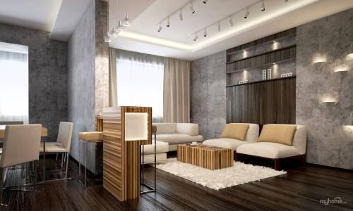 Декоративная штукатурка под бетон – фишка современного интерьерного дизайна
