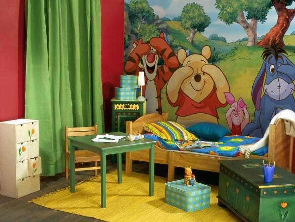 Добрые мультяшные фотообои, идеально подходящие для комнаты ребёнка дошкольного возраста