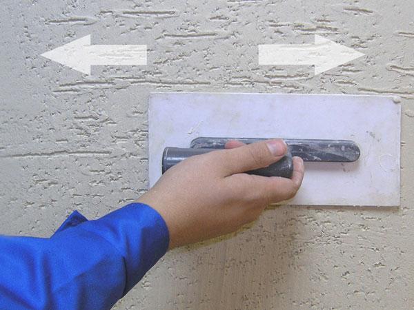 Фото схемы нанесения фактурной штукатурки «короед».