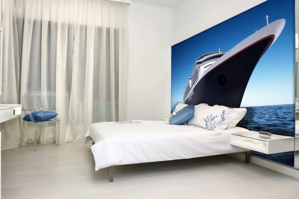 Фотообои с увеличенным изображением современного круизного лайнера