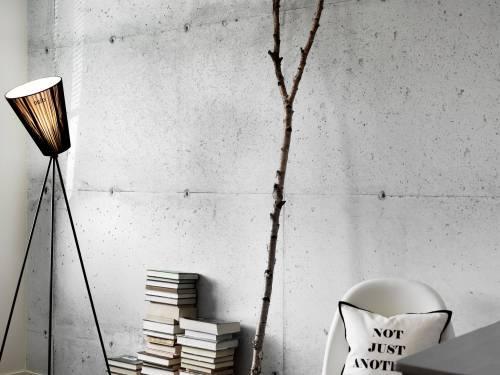 Интерьеры в стиле лофт: бетонные стены без штукатурки