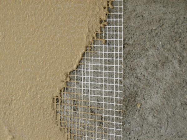 Использование штукатурной сетки при отделке стены
