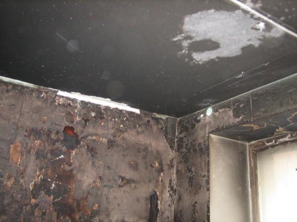 Как отмыть стены от пожара