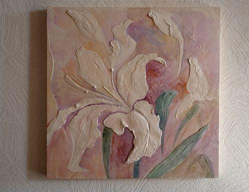 Лепное панно с цветами