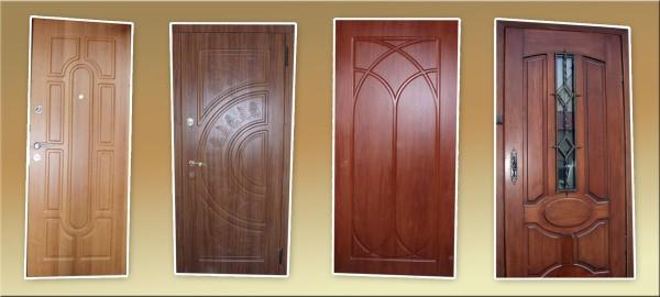 Металлические двери с филёнчатыми накладками, для покраски которых необходимы эмали по дереву