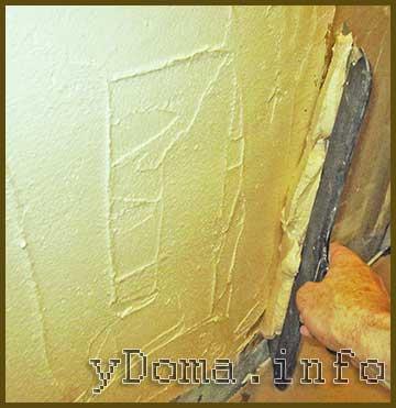 Нанесение гипсовой штукатурки на стену