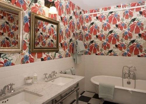 Рисунки обоев для ванной
