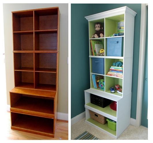 Шкаф до и после окрашивания