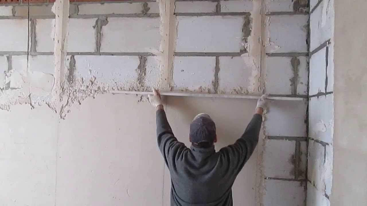 Смесь для штукатурка стен своими руками видео