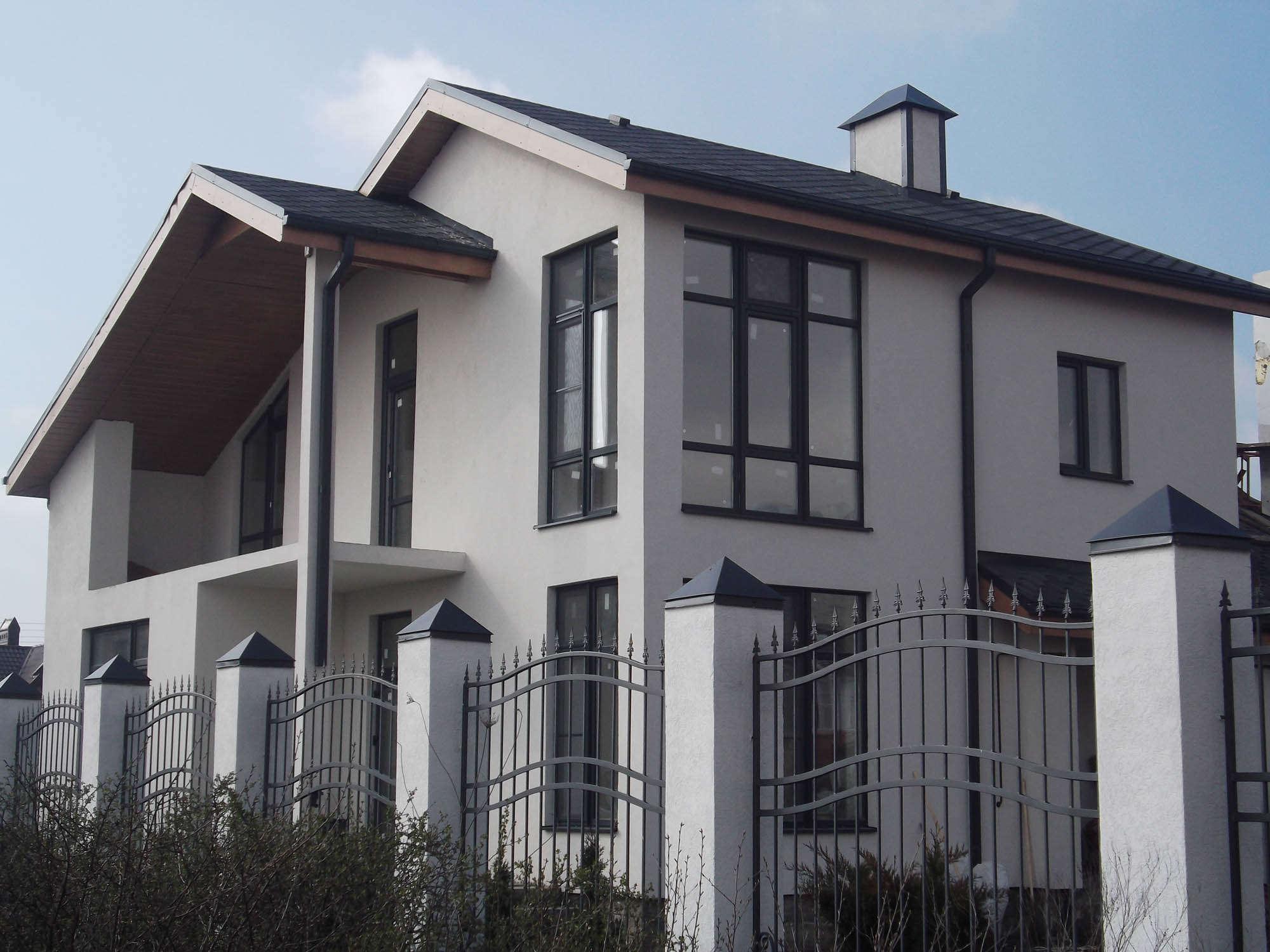 Отделка фасадов домов декоративная штукатурка