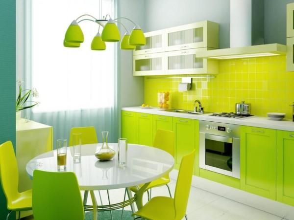 Флизелиновые обои в кухне