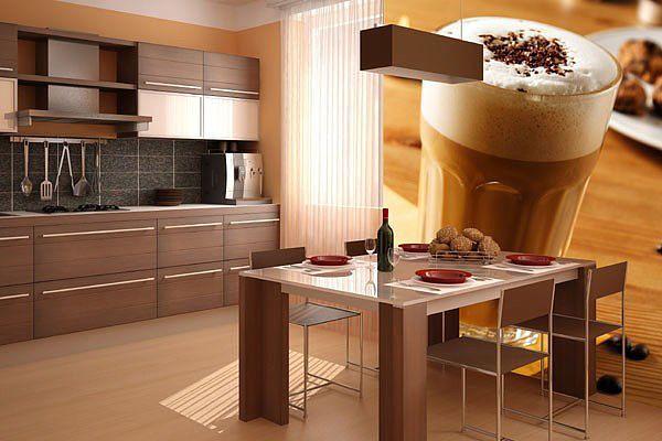 Фотообои в кухонном помещении