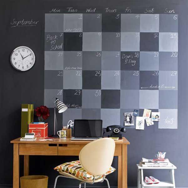 Интересная идея – календарь-ежедневник на стене