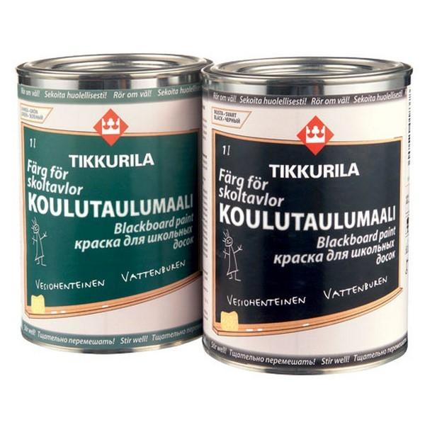 Краска для школьных досок Тikkurila Кoulutaulumaali Вlackboard