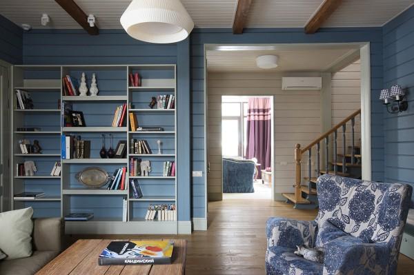 Масляная краска в дизайне деревянного дома