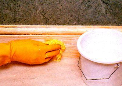 Мытье поверхности после окрашивания