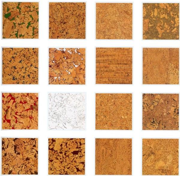 Несколько разновидностей текстурных рисунков пробковых покрытий. Как видно, и этот материал может быть очень разнообразным