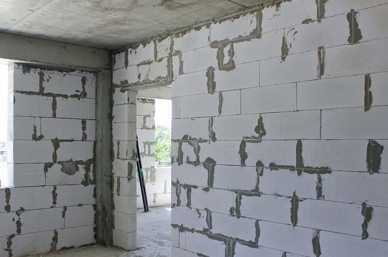 Газобетон стена своими руками