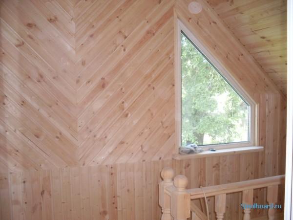 Отделка помещения деревянными панелями