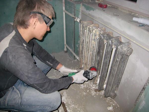 Подготовка чугунных радиаторов