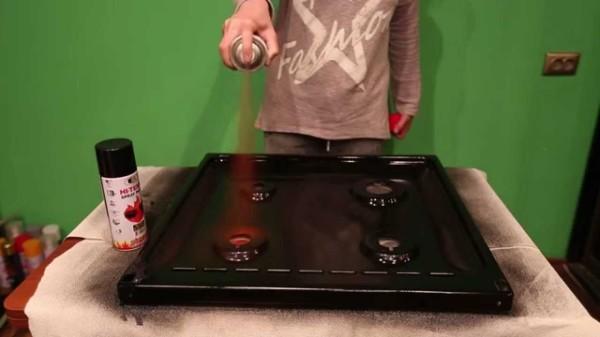 Покраска газовой плиты