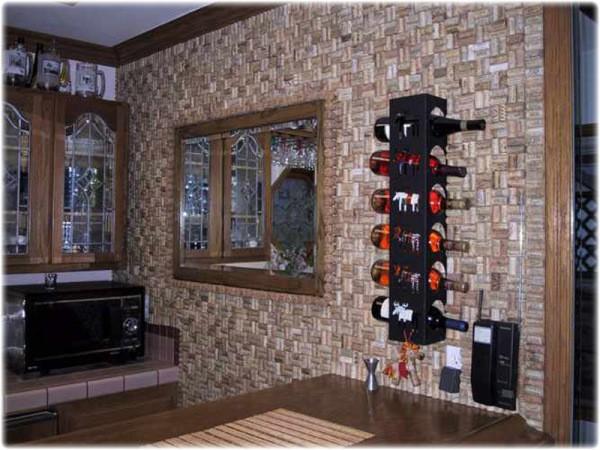 Пробковые стены в интерьере кухни