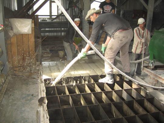Процесс изготовления пеноблоков