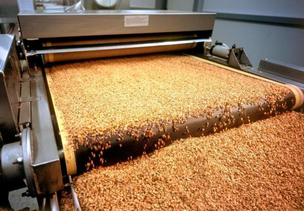 Процесс изготовления пробкового гранулята, из которого впоследствии будет создано пробковое покрытие