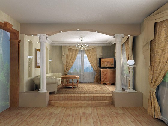 Расширение пространства в помещении после сноса стены