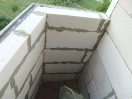 Стены балкона из пеноблоков