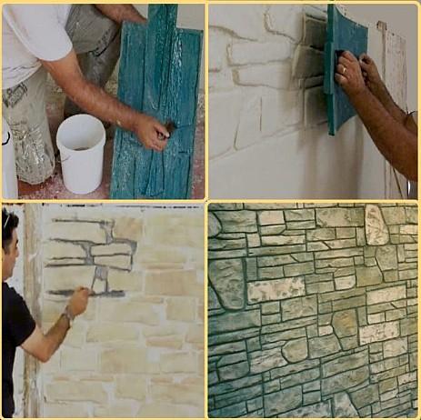 Технология тиснения стены полиуретановым штампом