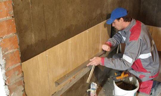 Технология укладки кафельной плитки на стену