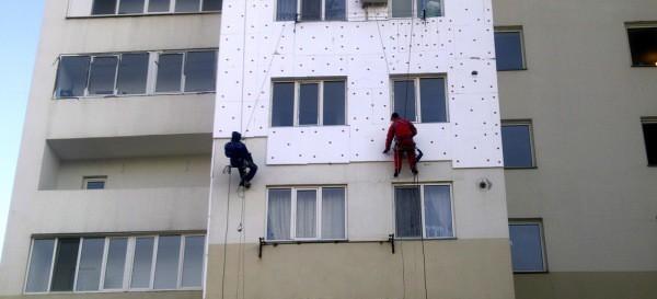 Утепление фасада многоэтажного дома