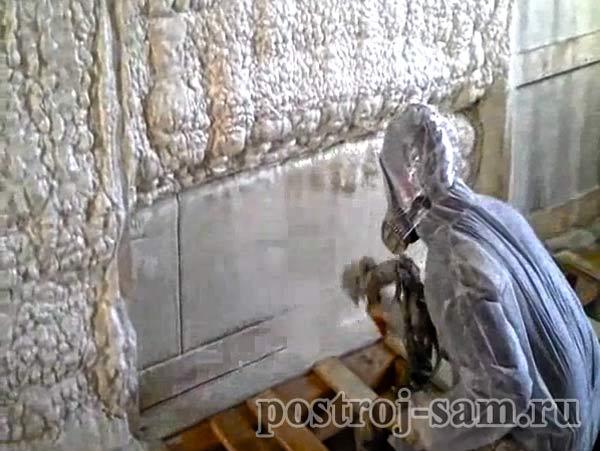Утепление стен пенополиуретаном
