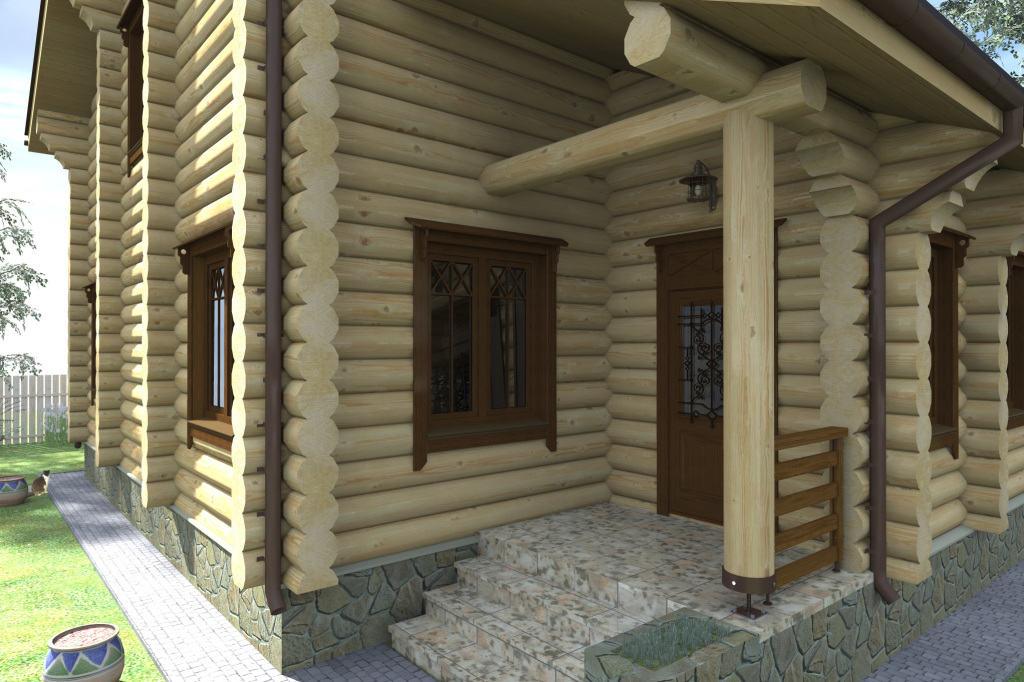 Чем покрасить бревенчатый дом снаружи: тонирующая грунтовка