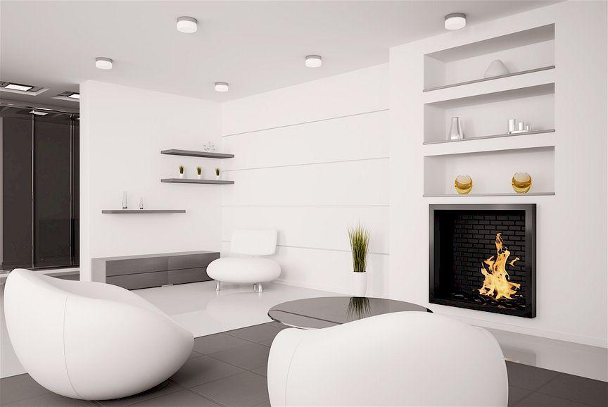 Совершенно белые стены – один из приёмов стилистики хай тек