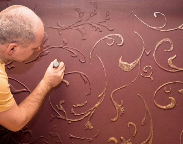 Декор стен в технике сграффито
