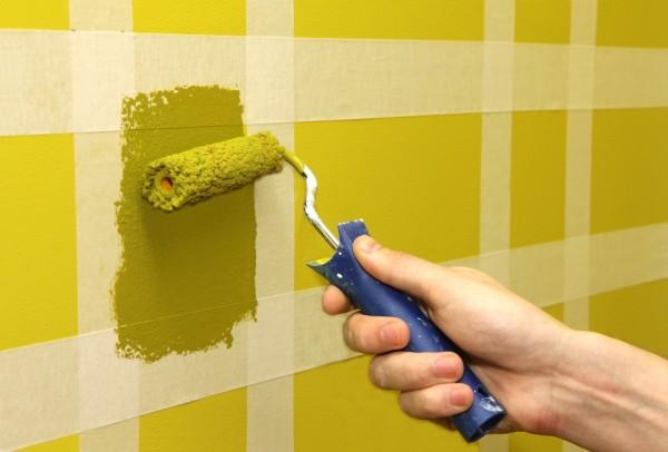 Декоративное окрашивание стены