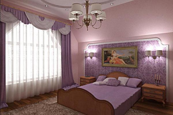 Дизайн обоев в спальню