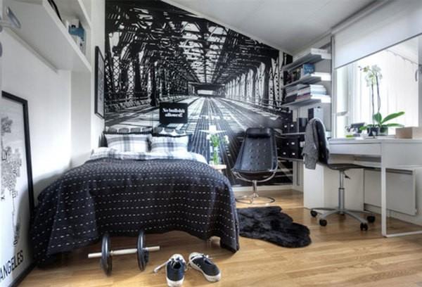Фотообои с изображением перспективы, могут помочь визуально увеличить небольшую комнату