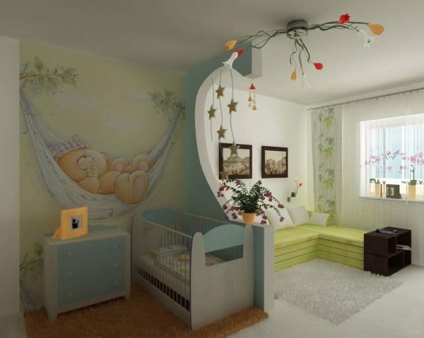 Фотообои в детскую с мишками тедди, хорошо подойдут для малышей до пяти лет, так как такие изображения не включают в себя слишком ярких или тёмных цветов