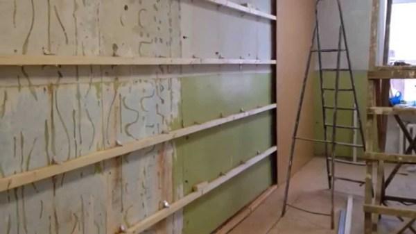 Готовая обрешётка для крепления панелей