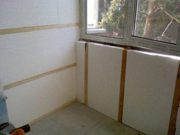 Как утеплить стену внутри пенопластом