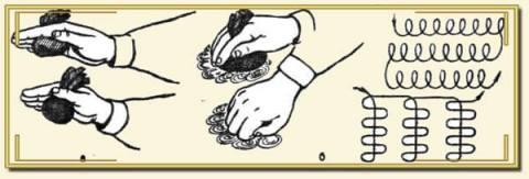 Нанесение лака ватным тампоном