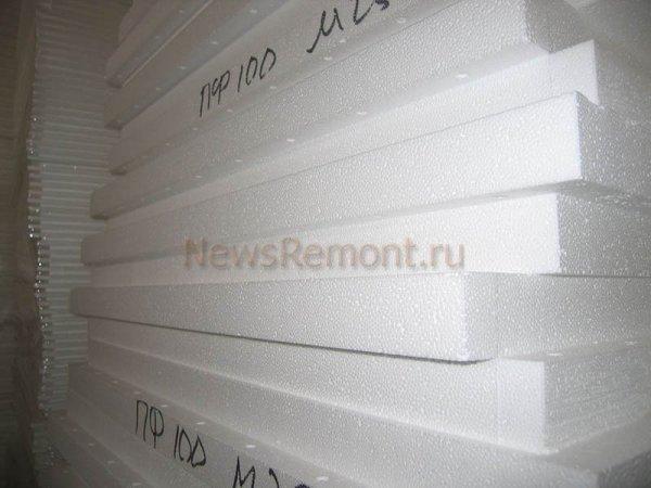 Пенопластовые плиты толщиной 100 миллиметров