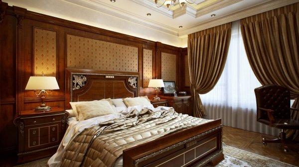 Плиты из мдф в роскошном интерьере спальни