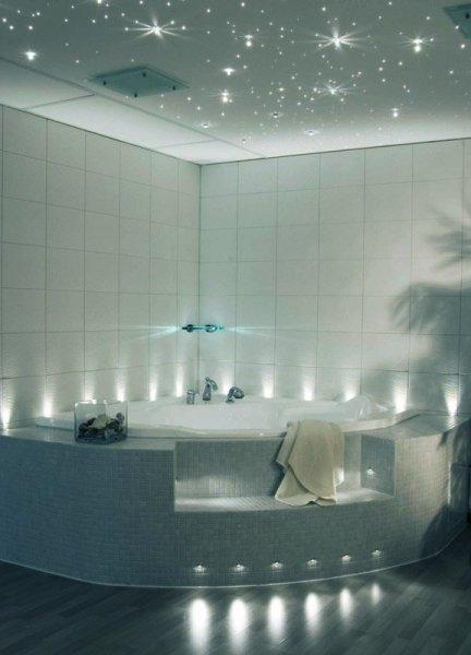 Потолки и стены в ванной