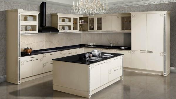 Пример клинкерного сайдинга над рабочей поверхностью кухонного гарнитура