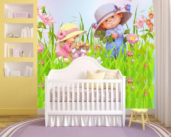 Рекомендуется выбирать фотообои детские на стену детской комнаты малыша с изображениями с не очень аляпистыми и тёмными красками
