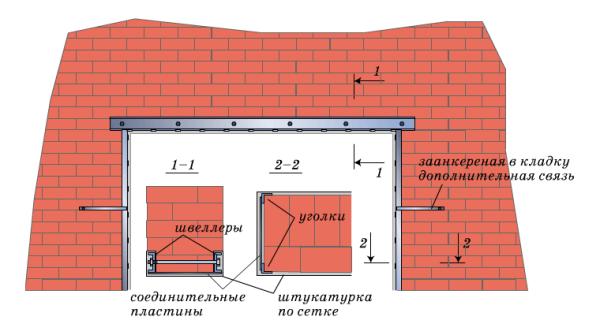 Схема проемов в стене